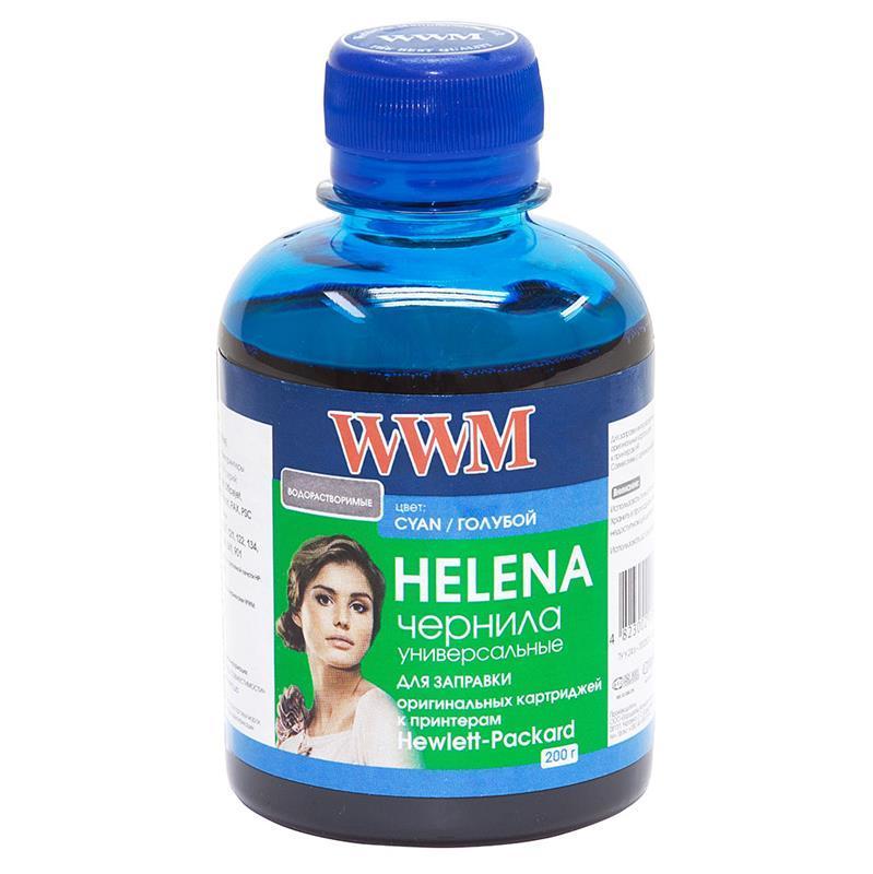 Чернила WWM HP Universal Helena для картриджей HP № 22,122,134,141,901 Cyan (HU/C) 200г