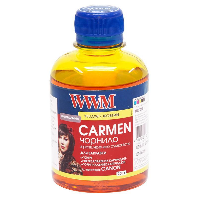 Чернила WWM Universal Carmen для Сanon серий PIXMA iP/iX/MP/MX/MG Yellow (CU/Y) 200г
