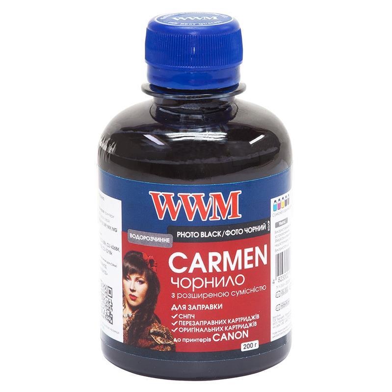 Чернила WWM Universal Carmen для Сanon серий PIXMA iP/iX/MP/MX/MG Black (CU/PB) 200г