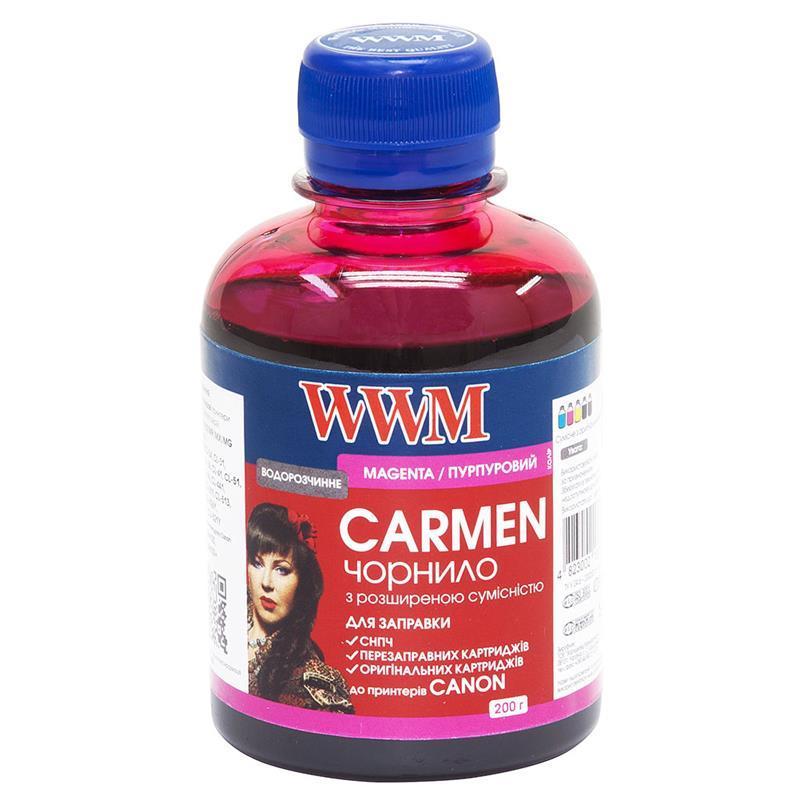 Чернила WWM Universal Carmen для Сanon серий PIXMA iP/iX/MP/MX/MG Magenta (CU/M) 200г