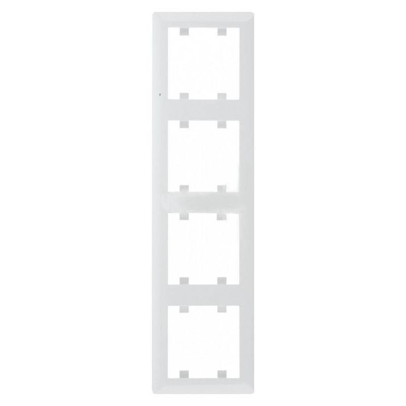 Рамка 4-кратная вертикальная Lumina-2 белая