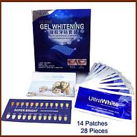 Делюкс гель ультра белый отбеливание зубов полоски комплект 28 шт. / 14 патчи отбеливание быстрый эффект