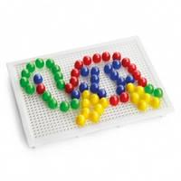 Мозаика для детей Доска с фишками 60 шт