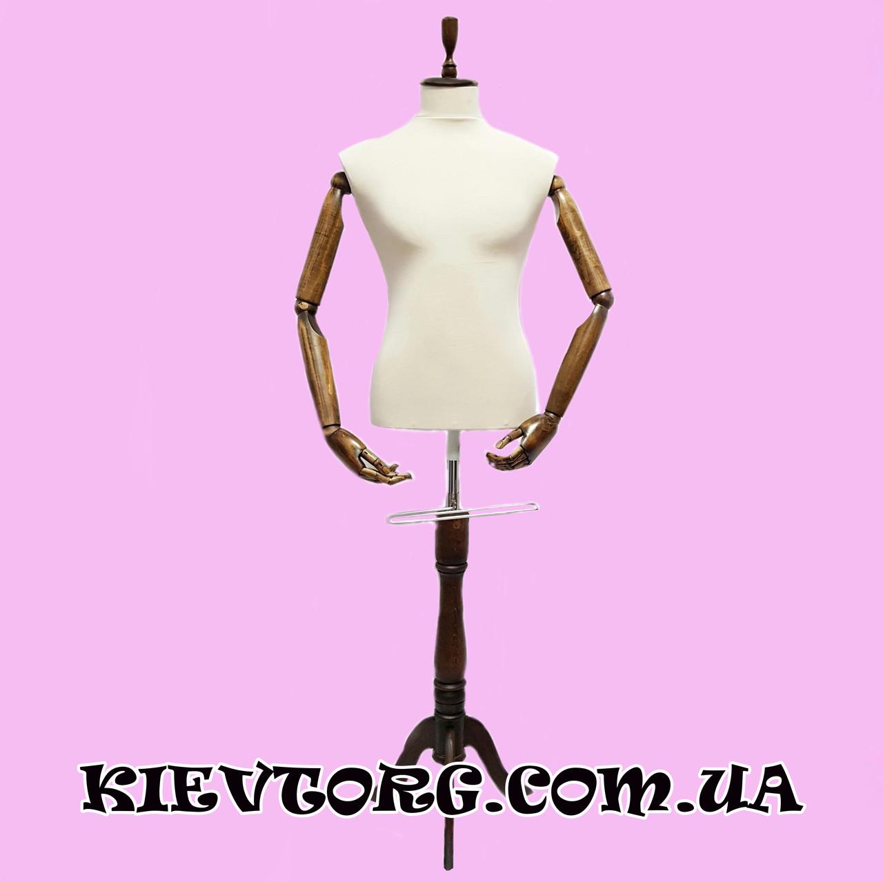 Манекен мужской для магазина одежды с деревянными руками на шарнирах и тканевым торсом (+ Видео)