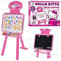 """Детский обучающий двухсторонний мольберт 3в1 """"Hello Kitty/Хэлло Китти"""": 3 алфавита"""