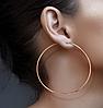 Серьги-кольца из медицинской стали с позолотой, в наличии разного диаметра