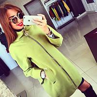 Пальто женское Сакура оливковое , магазин пальто