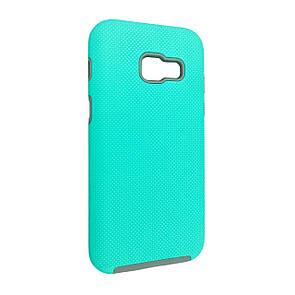 Чехол-Накладка DK-Case пластик с силиконом Case Mate хром кнопки для Samsung A320 (2017) (mint)