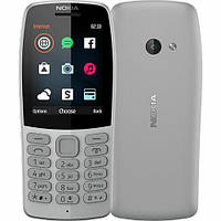 #175475 - Мобильный телефон Nokia 210 Grey, 2 MiniSim, 2,4' (320x240) TFT, microSD (max 32Gb), Ram 8Mb, Rom 16Mb, Cam 0.3Mp, BT, FM, MP3, Li-Ion
