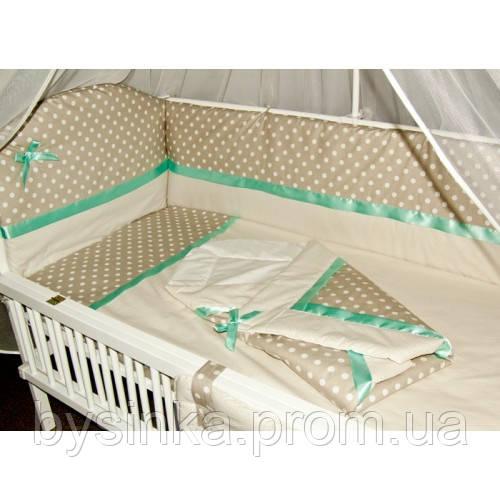 Детское постельное белье в кроватку (9  предметов)