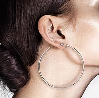 Сережки-кільця з медичної сталі, в наявності різного діаметру, фото 1