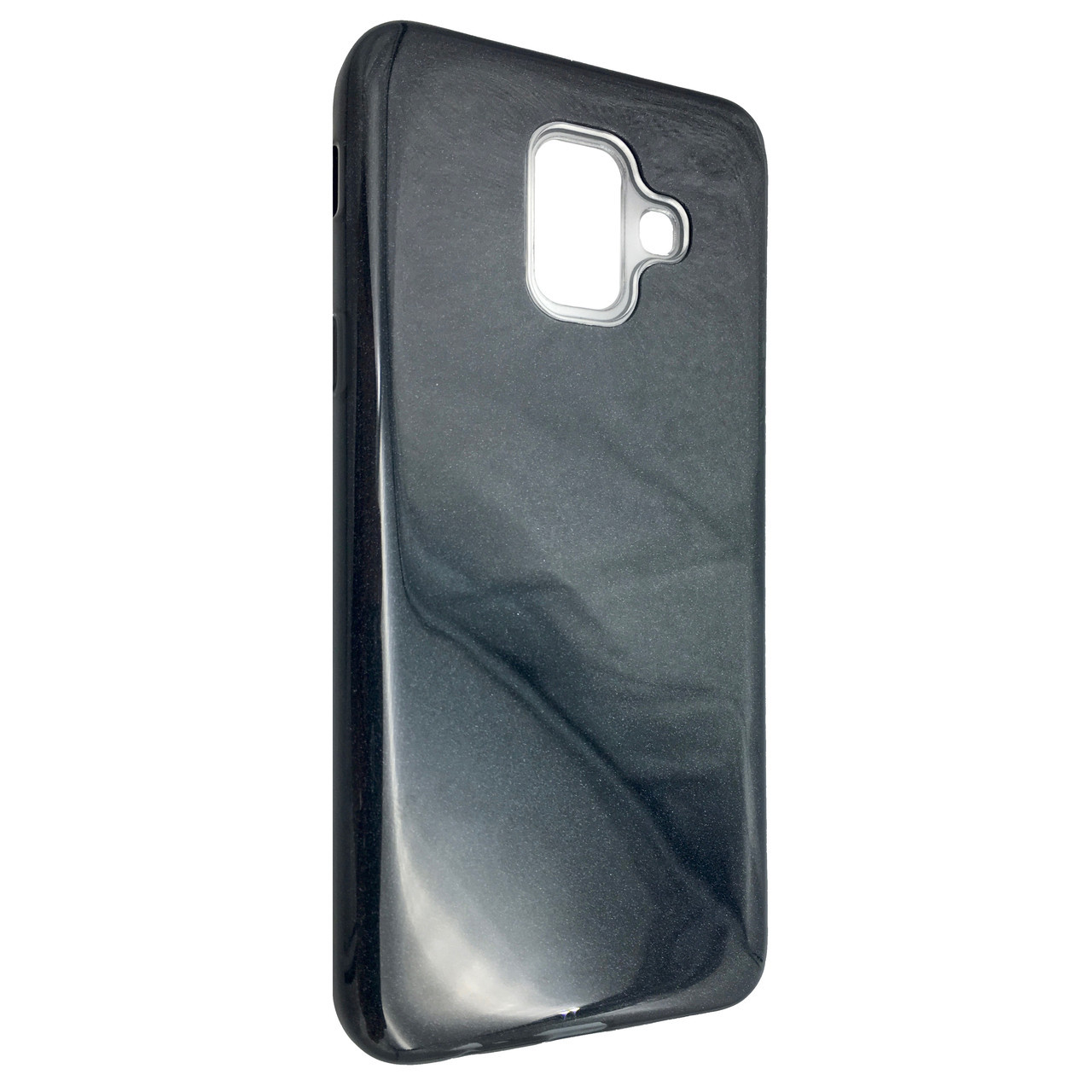 Чехол Silicone Glitter Heaven Rain Samsung A6 Plus (2018) (dark)