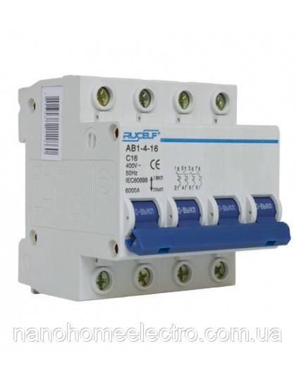 Автоматический выключатель четырехполюсный АВ1-4-50