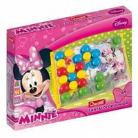 Набор для занятия мозаикой Minnie доска с большими фишками 48 шт
