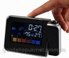 Электронные часы-проектор метеостанция calendario a schermo colorato