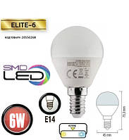 Светодиодная лампа HOROZ ELECTRIC ELITE-6 P45 6 Вт 4200K E14