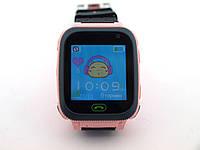 Дитячий смарт годинник F3, детские смарт часы, Smart Watch GSM, с фонариком розовые с черным | AG510149