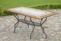 Каменные столы Como 160х90 см