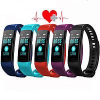 🎁Подарок активной Маме ! Y5 Smart Bracelet браслет-часы с измерением давления и пульса, красный   AG510161