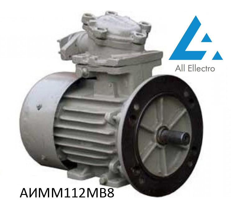 Взрывозащищенный электродвигатель АИММ112МВ8 3кВт 750об/мин