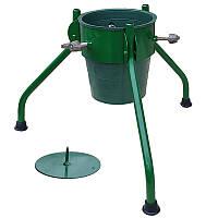 Складная подставка под елку с ведром МеталлМастер «ПДЕ-2» Зеленая