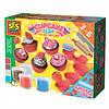 Масса для лепки незасыхающая Фруктовые кексы 4 цвета в пластиковых баночках с инструментами