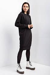 Теплое платье DEKO из трикотажа с начёсом черного цвета