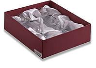 Набор из двух свадебных бокалов для шампанского 190 мл, стекло с посеребрением(сердечки)