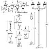 Уличный фонарь подвесной LusterLicht 1115S Wimbledon I, фото 2