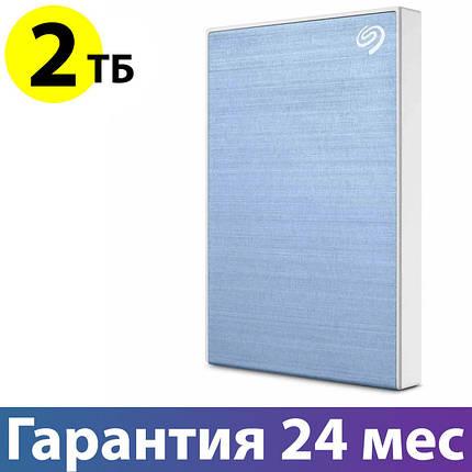 """Внешний жесткий диск 2 Тб Seagate Backup Plus Slim, Light Blue, 2.5"""", USB 3.0 (STHN2000402), фото 2"""