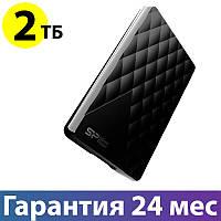 """Внешний жесткий диск 2 Тб Silicon Power Diamond D06, Black, 2.5"""", USB 3.0 (SP020TBPHDD06S3K)"""