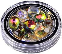Камни для декора ногтей LPnails радужные микс №5