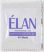 ELAN Краска для бровей и ресниц №01 Черная 5г
