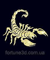 Топпер Скорпион, Скорпион на торт, Топперы знаки зодиака, Топер Золотой Скорпион, Скорпион с цифрой