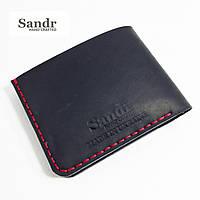Мужской стильный кожаный кошелек Sandr / чоловічий гаманець