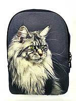 Джинсовый рюкзак МЕЙНКУН серый, фото 1
