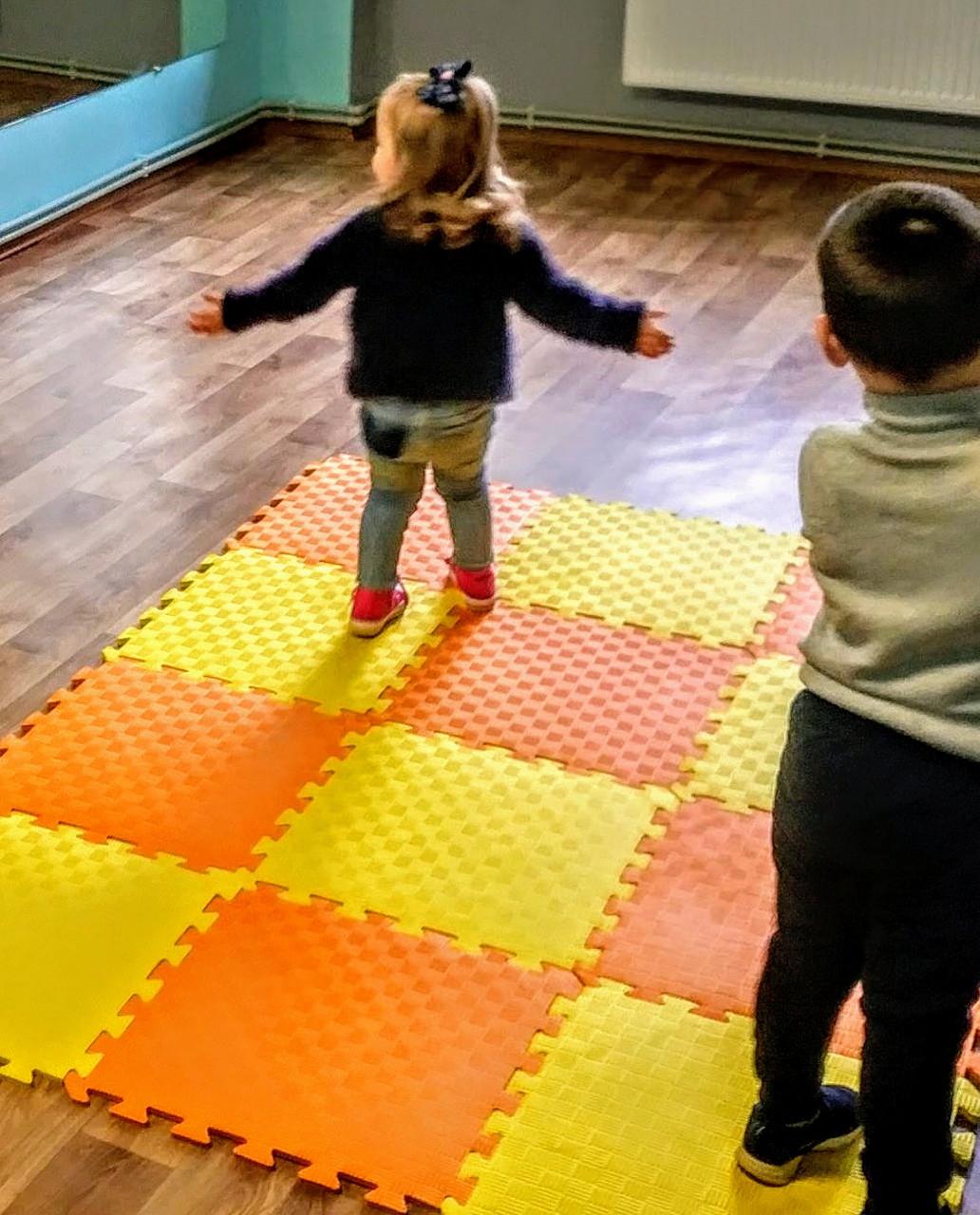 Игровой детский коврик. Мягкий , теплый пол ( Коврик-пазл 50*50*1см ).Сборной коврик для детских комнат.
