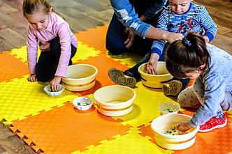 Детский игровой коврик. Коврик для детских комнат. Теплый сборной коврик для детских комнат.