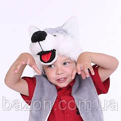 Дитяча маскарадна шапочка Вовк