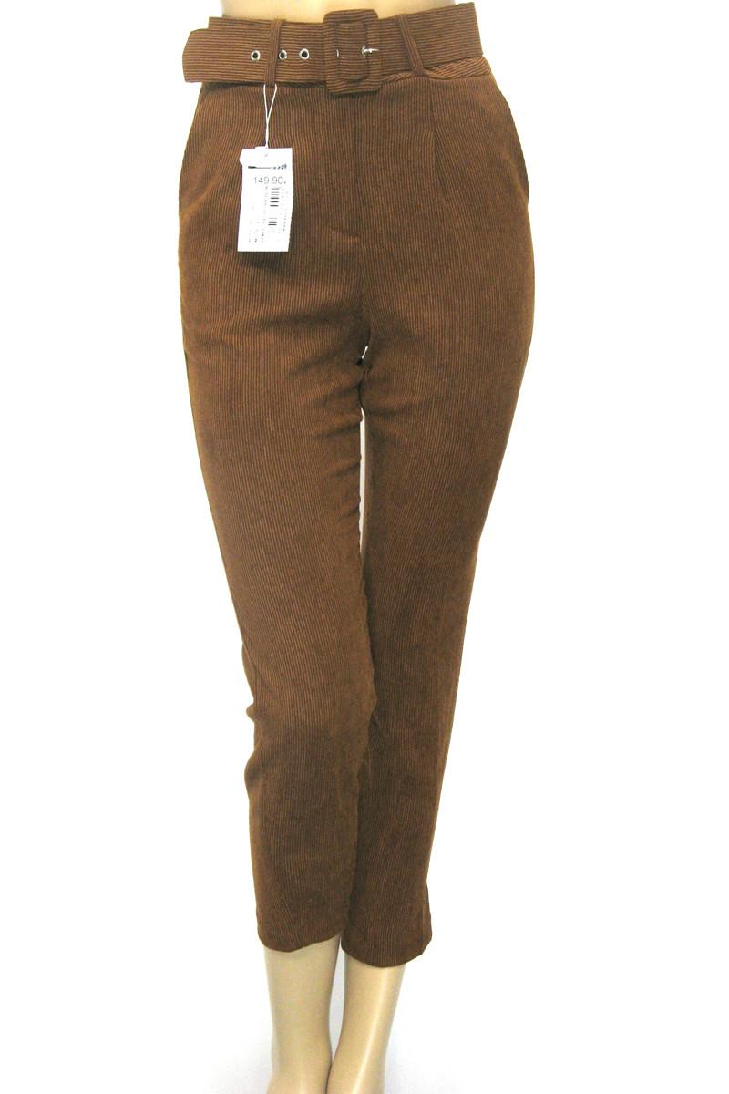 Жіночі вельветові брюки з високою талією