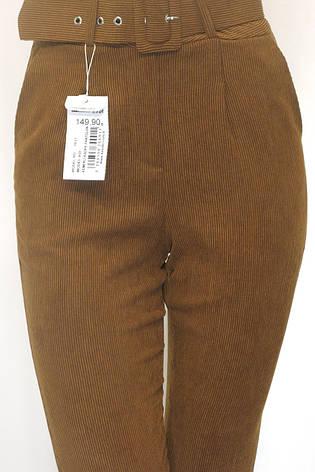 Жіночі вельветові брюки з високою талією, фото 2