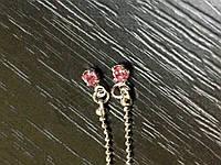Подвески , пирсинг для ногтей IЕD  01-03  Pink
