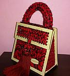 Каркас деревянный для создания сумки 19х21 из 4х частей с ручкой 6мм, фото 3