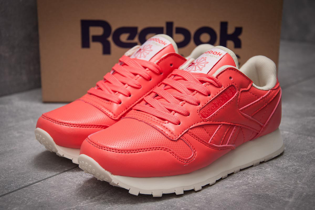 Кроссовки женские 12831, Reebok Classic, коралловые ( 38 39  )