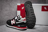 Кроссовки женские 13141, New Balance 574, черные ( 37 38  ), фото 4