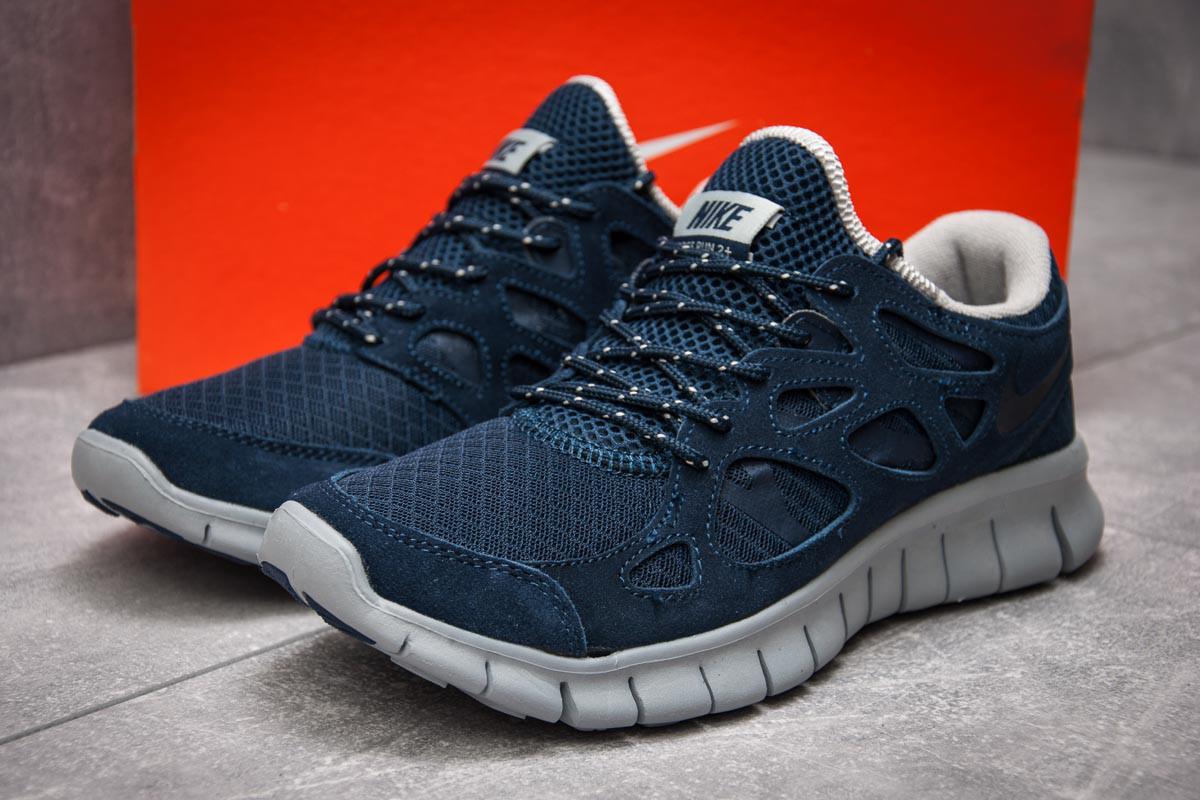 Кроссовки мужские 13442, Nike Free Run 2+, темно-синие ( 41  )