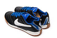 Кроссовки мужские 13951, Nike Tiempo, черные ( 37 38 39 40  ), фото 8