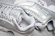 Кроссовки женские 13558, Fila Disruptor 2, серебряные ( 39 40 41  ), фото 6