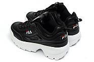 Кроссовки женские 14634, FILA Disruptor, черные ( 37 41  ), фото 8