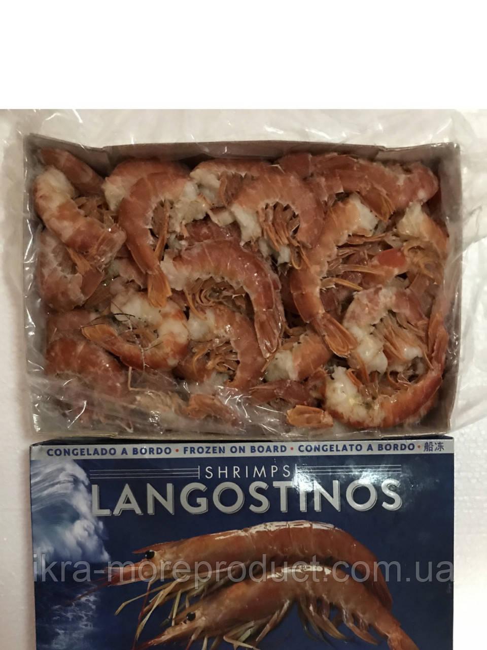 Лангустины  без голов ,  королевские креветки , Лангустины 40/45 штук на кг